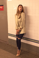 Nicole in the Subway