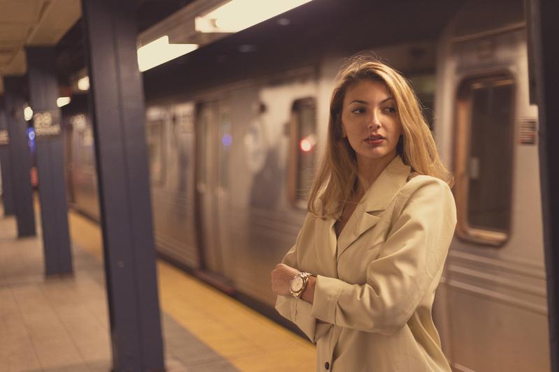 Nicole in the Subway