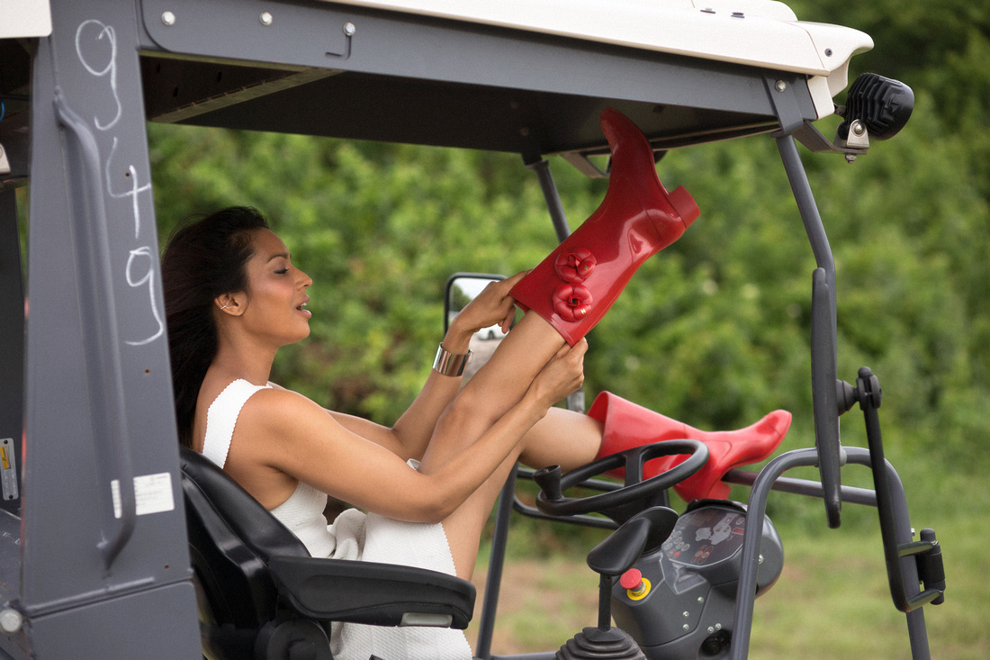 Kamini Chinloy in Red Boots